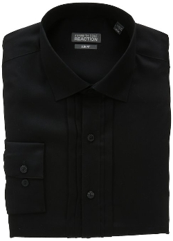 Kenneth Cole Reaction - Slim-Fit Solid Button-Front Shirt
