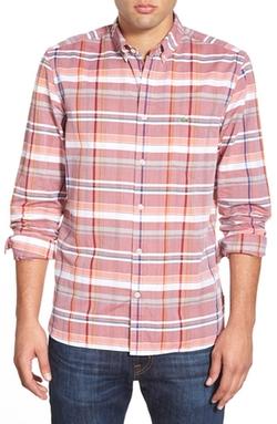 Lacoste - Regular Fit Plaid Poplin Woven Shirt