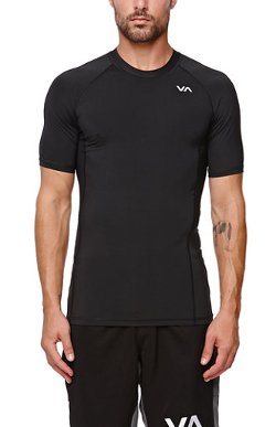RVCA  - X Virus Compression Short Sleeve T-Shirt