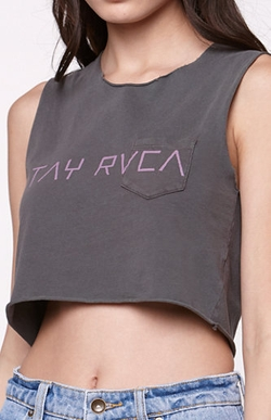 RVCA  - Stay RVCA Cropped Tank Top