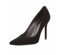 Stuart Weitzman - Nouveau Suede Pointed-Toe Pumps