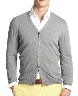 Slowear - V-Neck Cotton Cardigan Sweater