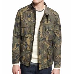 Belstaff  - Tyefield Washed Camo-Print Waxed Jacket