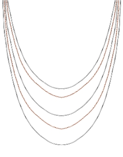 Lord & Taylor - Silver Tiered Strand Necklace