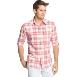 Izod - Seaside Plaid Casual Button-Down Shirt