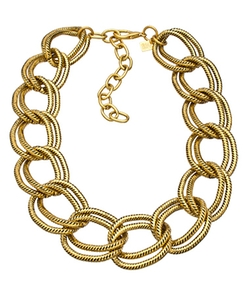 John Wind Maximal Art - Large Gold Chain Link Necklace