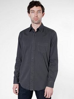 American Apparel - Cotton Twill Long Sleeve Button-Up Shirt