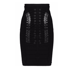 Hervé Léger - Embellished Bandage Pencil Skirt