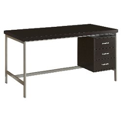 Monarch Specialties  - Hollow Core & Metal Computer Desk