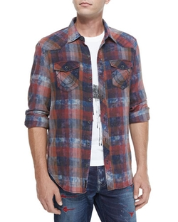 True Religion - Western-Style Plaid Shirt