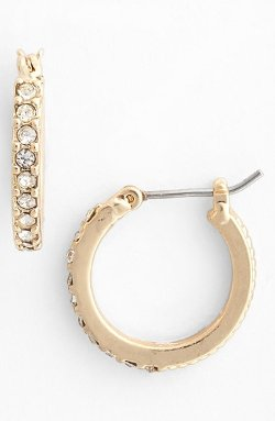 Anne Klein - Crystal Hoop Earrings