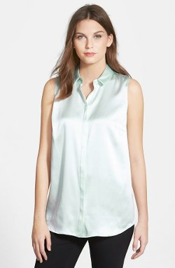Lafayette 148 New York  - Luxe Charmeuse Silk Blouse