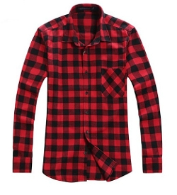 Benibos - Long Sleeve Plaid Flannel Shirt