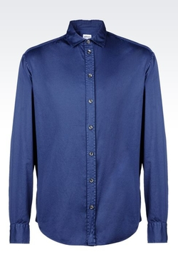 Armani Collezioni - Stretch Cotton Satin Shirt