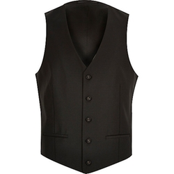 River Island - Black Wool-Blend Vest