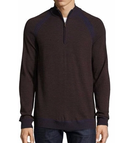 Robert Graham - Jovanni Two-Tone Half-Zip Sweater