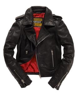 Superdry - Premium Leather Biker Jacket