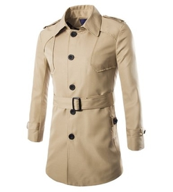 Amu - Single-Breasted Trench Coat