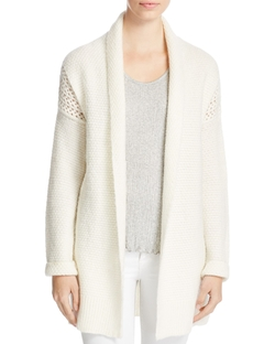 Suncoo - Georgina Open Knit Paneled Cardigan