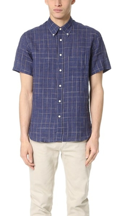 Billy Reid  - Tuscumbia Short Sleeve Shirt