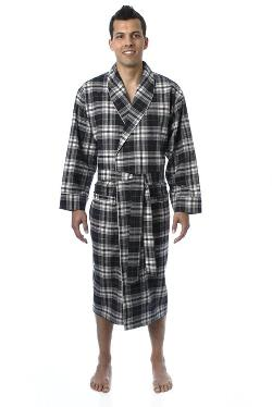 Noble Mount - Mens Premium 100% Cotton Flannel Robe