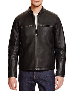 Cole Haan - Leather Two-In-One Jacket