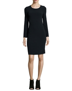 Calvin Klein Collection - Filipa Button-Side Sheath Dress