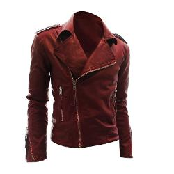 Uxcell  - Stylish Asymmetrical Zipper Front Motorcycle Jacket Outwear