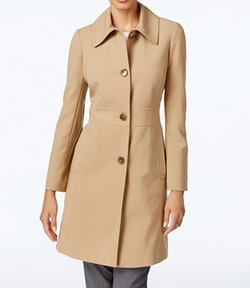 Larry Levine - Button-Front Walker Coat