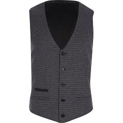 River Island - Dark Grey Houndstooth Vest