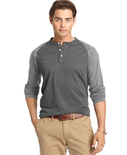 Izod  - Colorblocked Long-Sleeve Henley