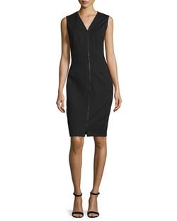 Elie Tahari  - Mila Zip-Front Sheath Dress