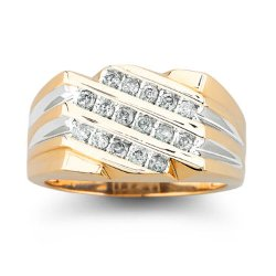 JCPenny - 1/2 CT. T.W. Diamond Mens Ring 10K Gold