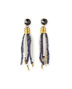 Lizzie Fortunato - Oasis Iolite & Pearl Tassel Earrings