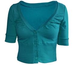 KMystic - Short Sleeve Bolero Cardigan