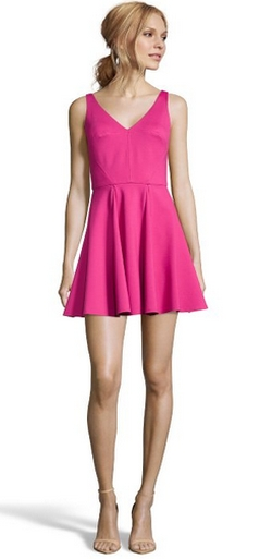 Wyatt - Ponte Sleeveless Fit And Flare Dress