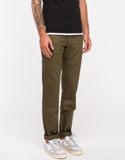 Naked and Famous - Weird Guy Khaki Green Chino Pants