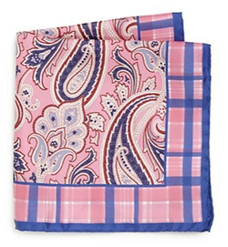 Ike Behar - Paisley Silk Pocket Square