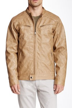 English Laundry  - Perforated Faux Leather Jacket