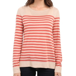 Vince Camuto - Stripe Crew Neck Sweater