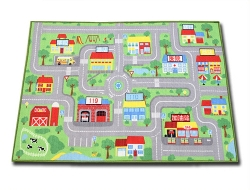 Luk Oil - Traffic Lane Road Carpet Game Crawling Mat
