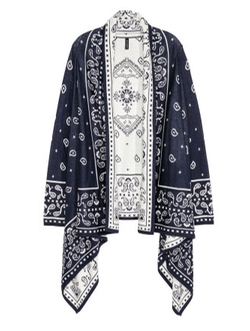 H&M - Blue Jacquard-Knit Cardigan