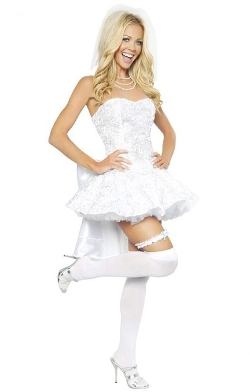 Musotica  - Sexy White Wedding Girl Halloween Costume