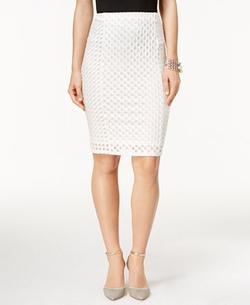 Cece - Jacquard Pencil Skirt