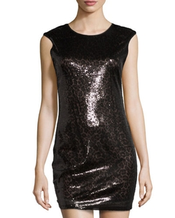 Romeo & Juliet Couture - Sequined Sleeveless Dress