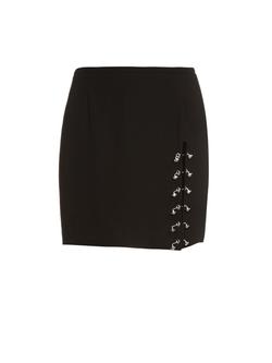 Versus Versace  - Button Detail Crepe Mini Skirt