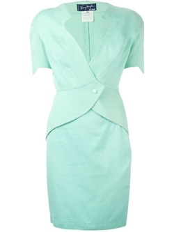 Thierry Mugler Vintage - Diamond Neckline Skirt Suit