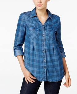 Style & Co. - Denim Plaid Shirt