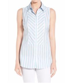 Foxcroft - Non-Iron Stripe Sleeveless Shirt