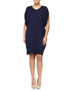 Stella McCartney - Short-Sleeve Drawstring Jersey Dress